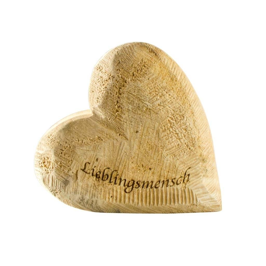 Holz Herz Pappel natur 15x15cm Lieblingsmensch