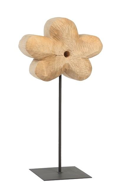 Holz Blume Pappel natur 50x20cm