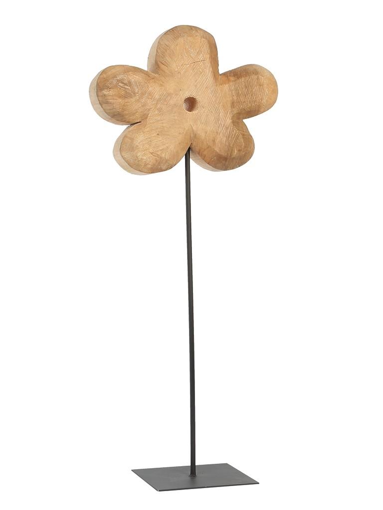 Holz Blume Pappel natur 90x33cm
