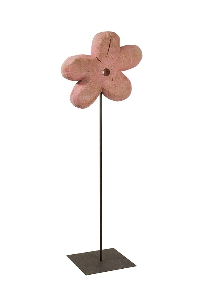 Holz Blume Pappel pink 90x33cm