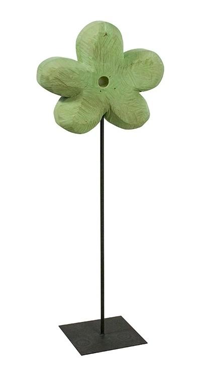Holz Blume Pappel mint 90x33cm
