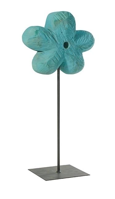 Holz Blume Pappel blau 90x33cm
