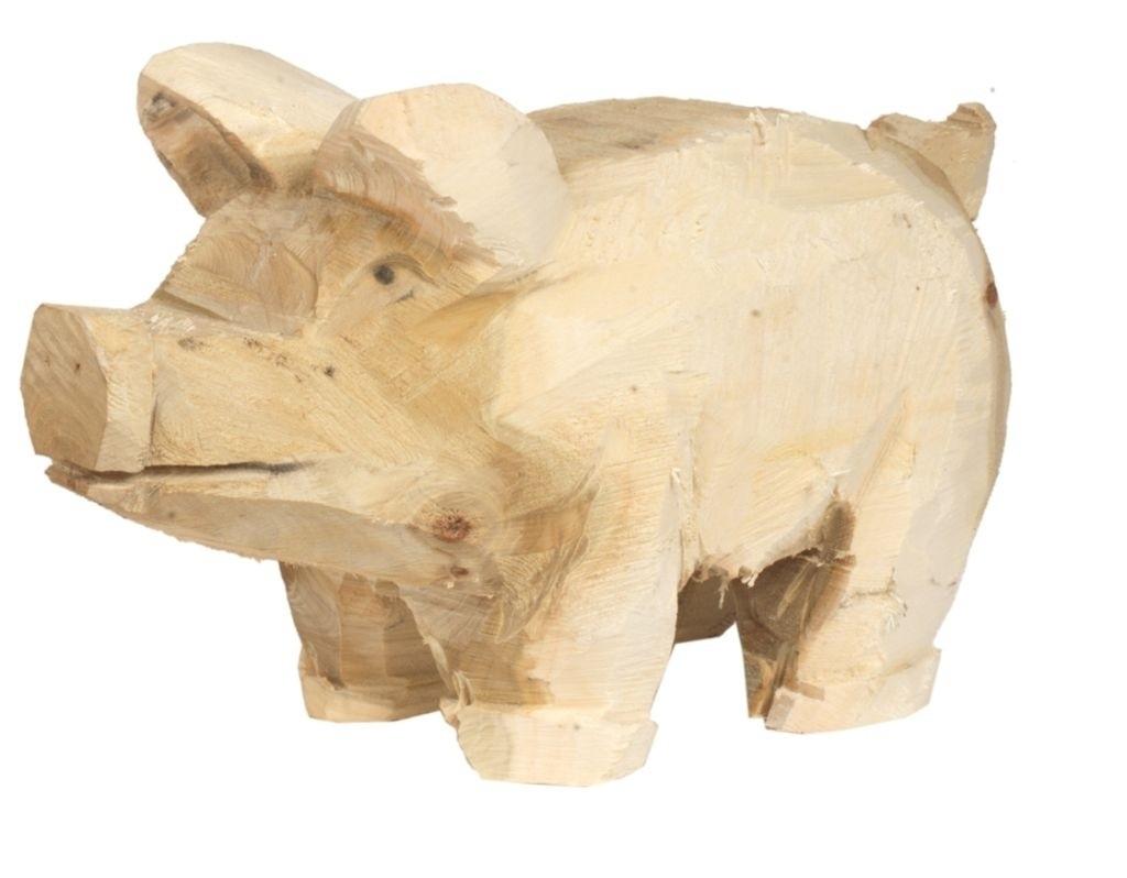 Holz Schwein Pappel natur 30x50cm