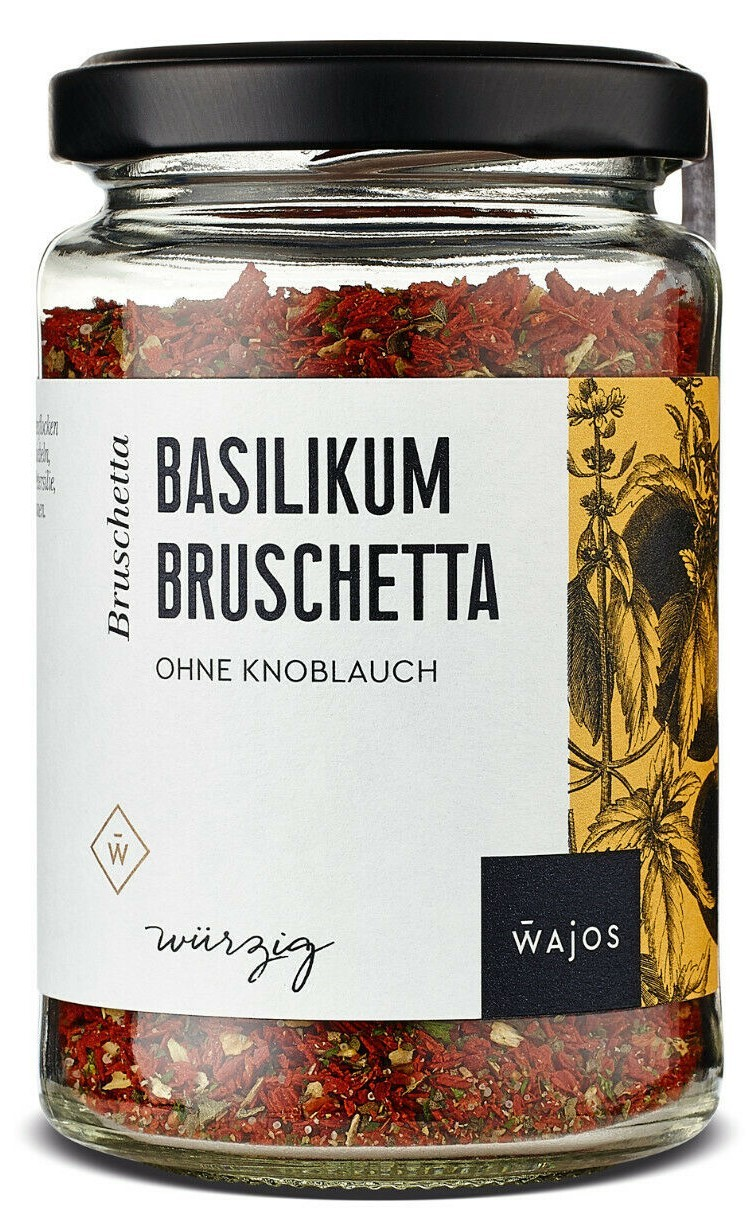 Basilikum Bruschetta 85g – Würzmischung ohne Knoblauch
