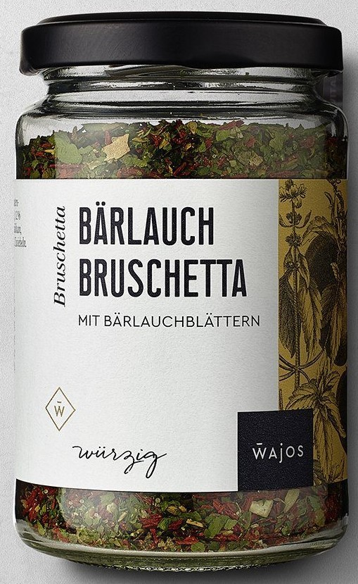 Bärlauch Bruschetta 60g – Würzmischung mit Bärlauchblättern