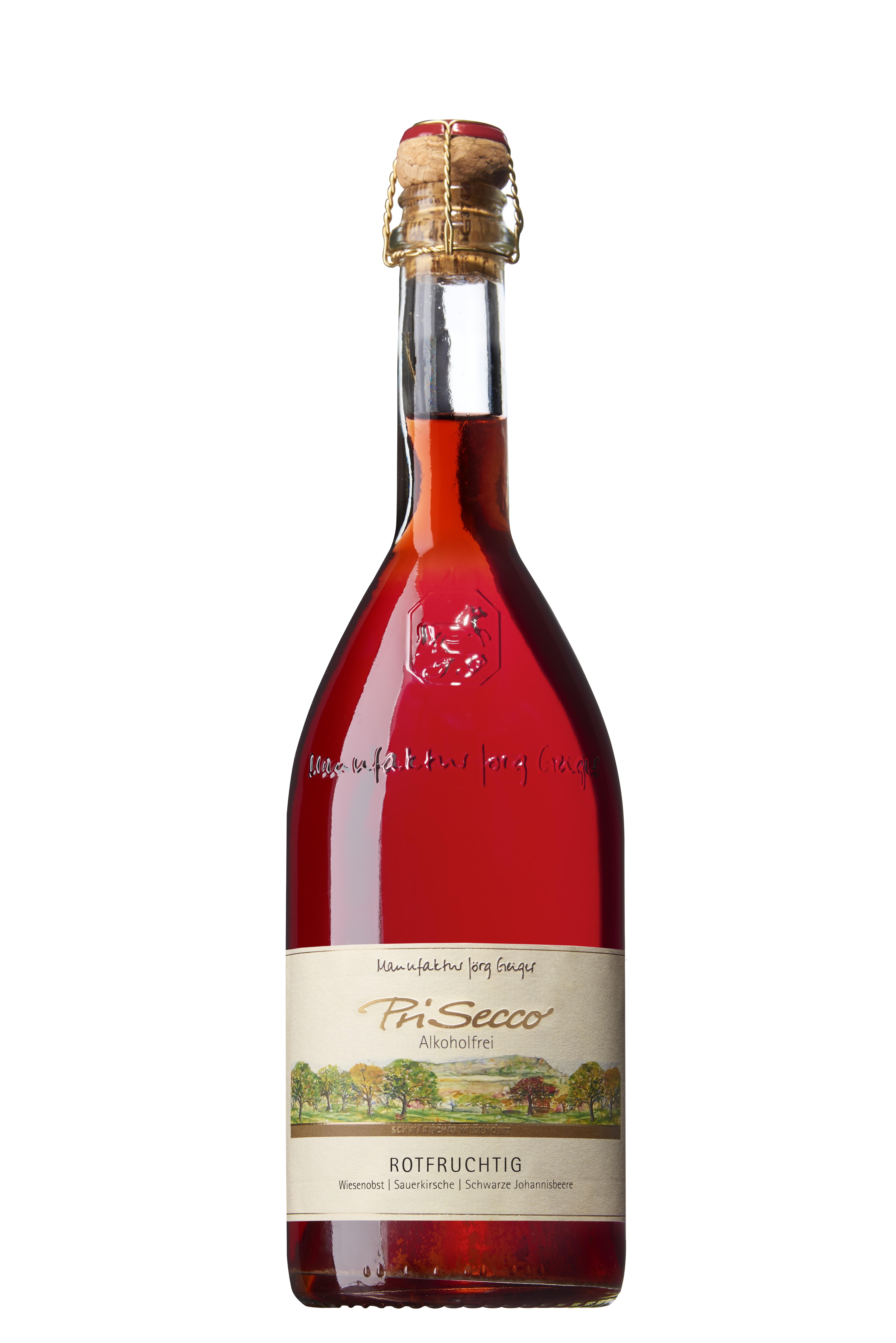 Rotfruchtig – PriSecco alkoholfrei 750ml