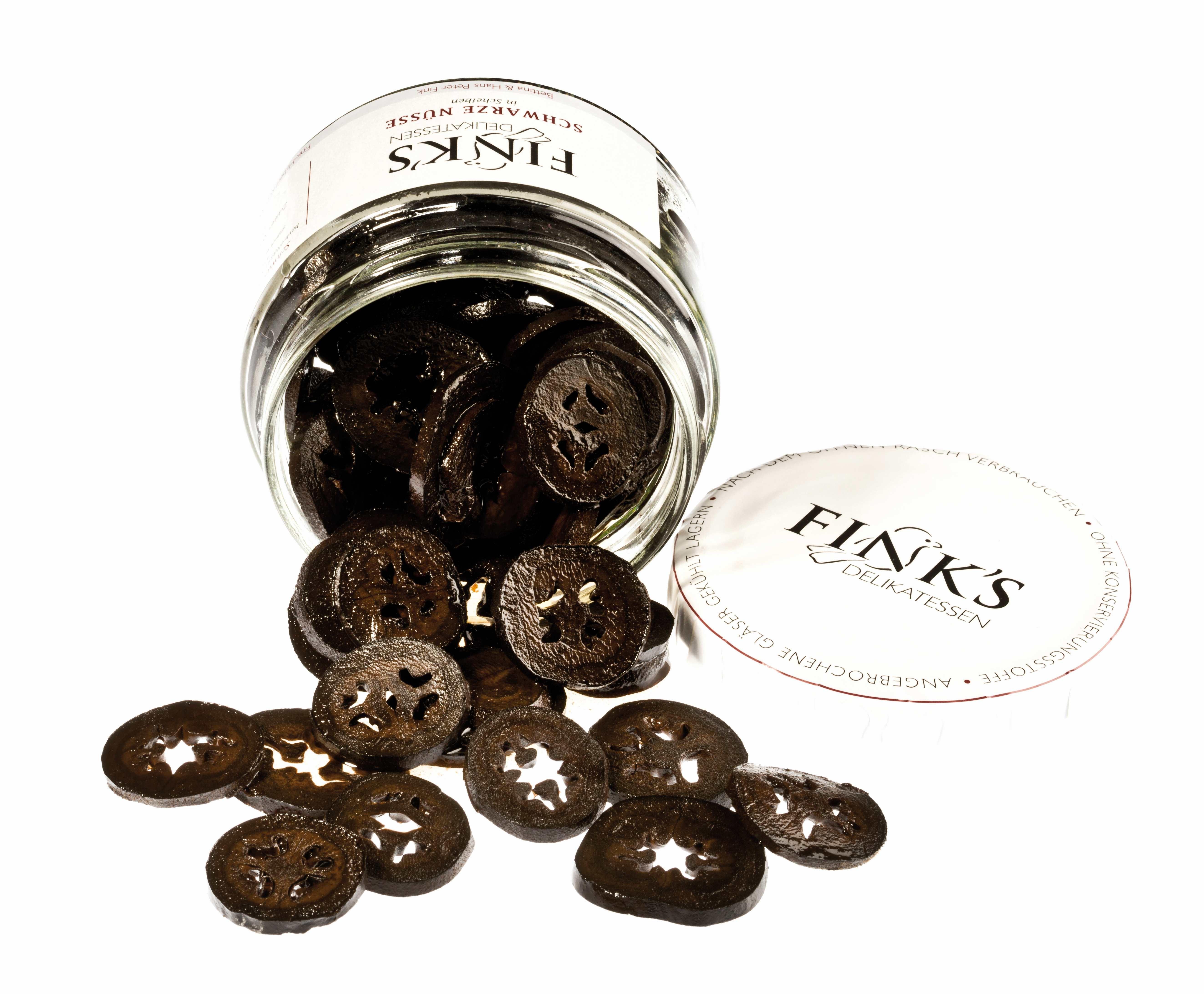 Schwarze Nüsse in Scheiben 280 ml