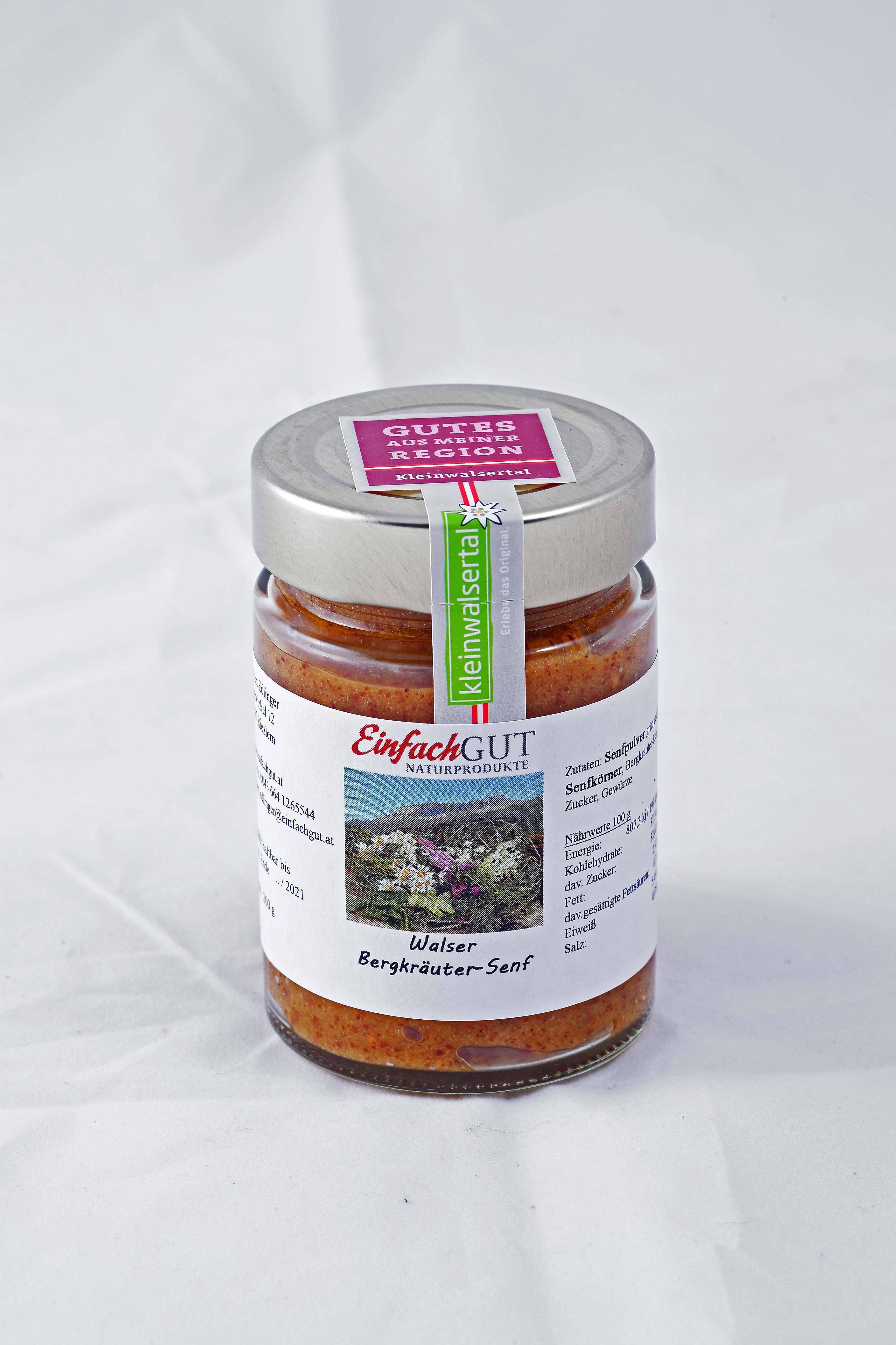 Bergkräuter-Senf 200g bio