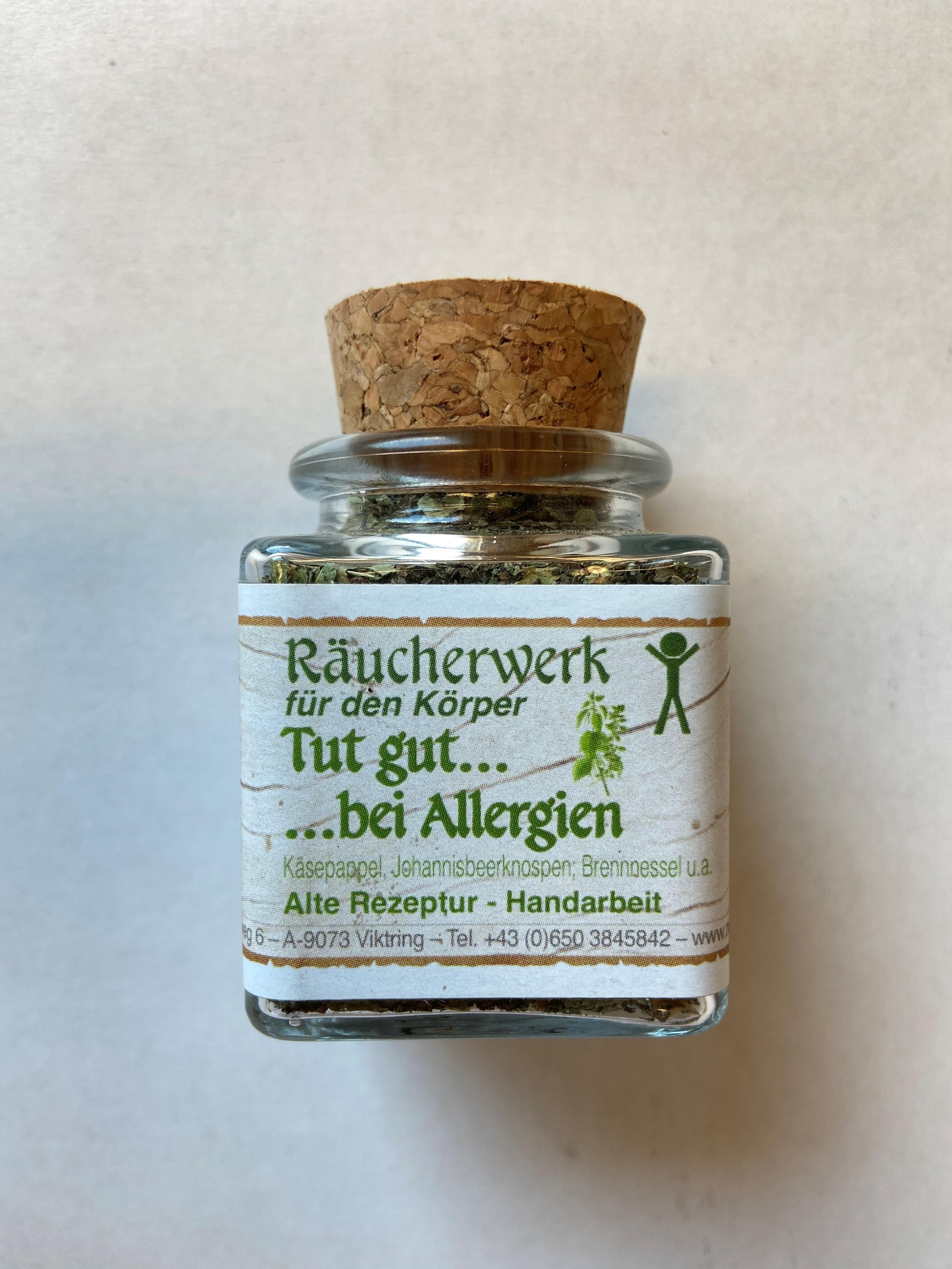 Tut gut bei Allergien 50ml Räucherwerk bio