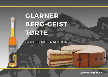 Berg-Geist Torte - Kuchen & 4cl Flasche Berg-Geist