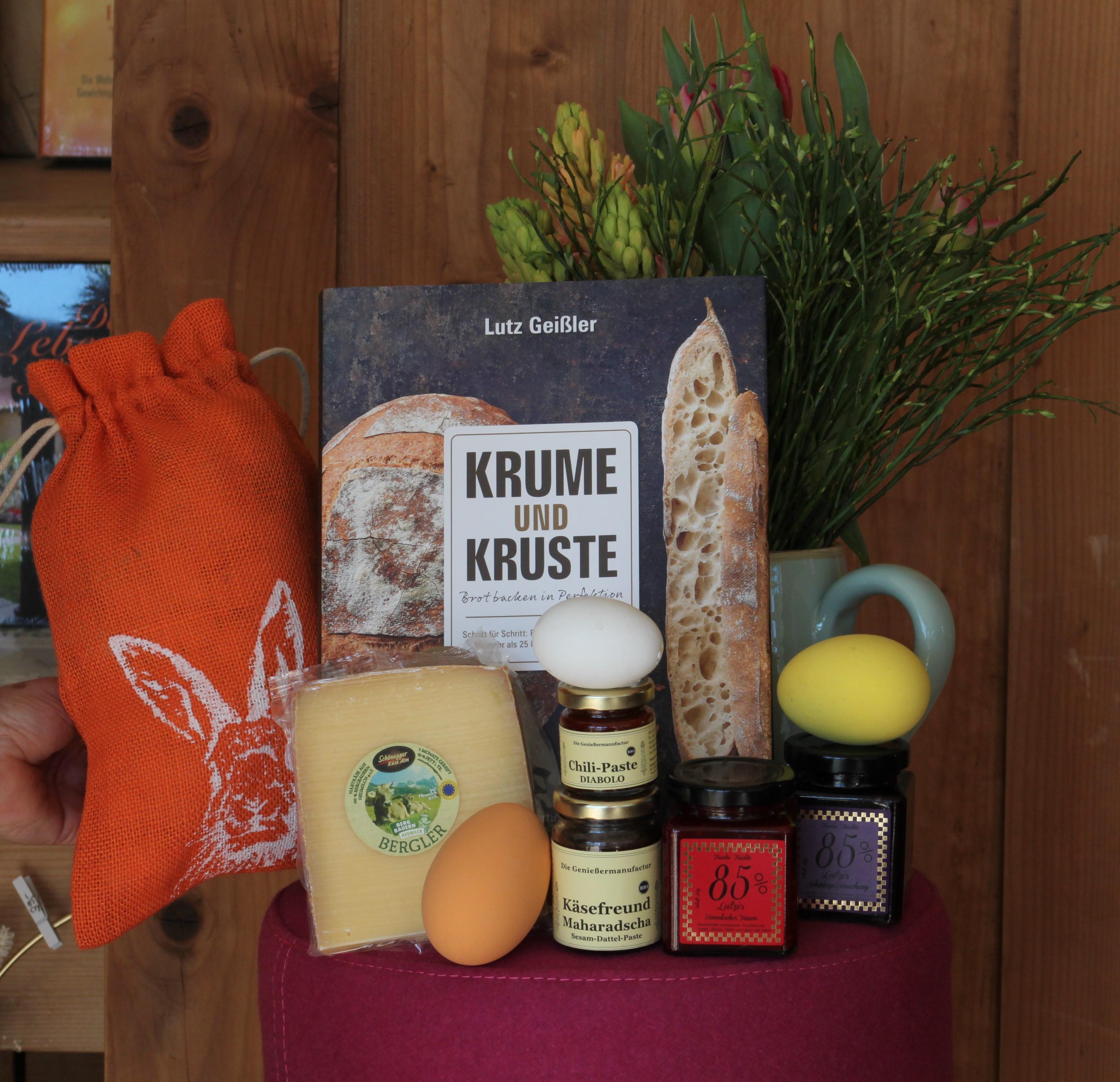 """Osterpaket """"Krume und Kruste"""" Brotbackbuch"""