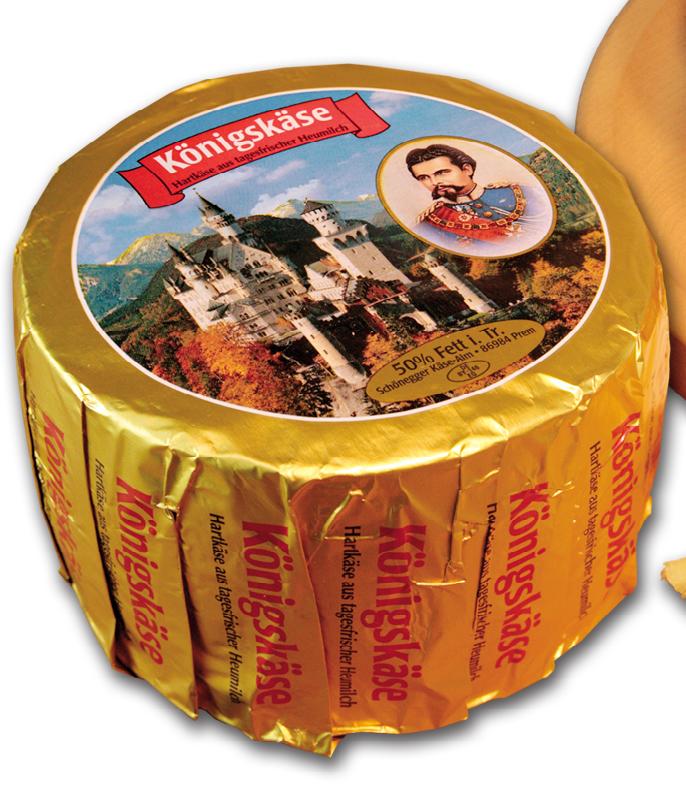 """Bergkäse """"Königskäse"""" aus Heumilch, ca. 900 g aus dem Allgäu"""