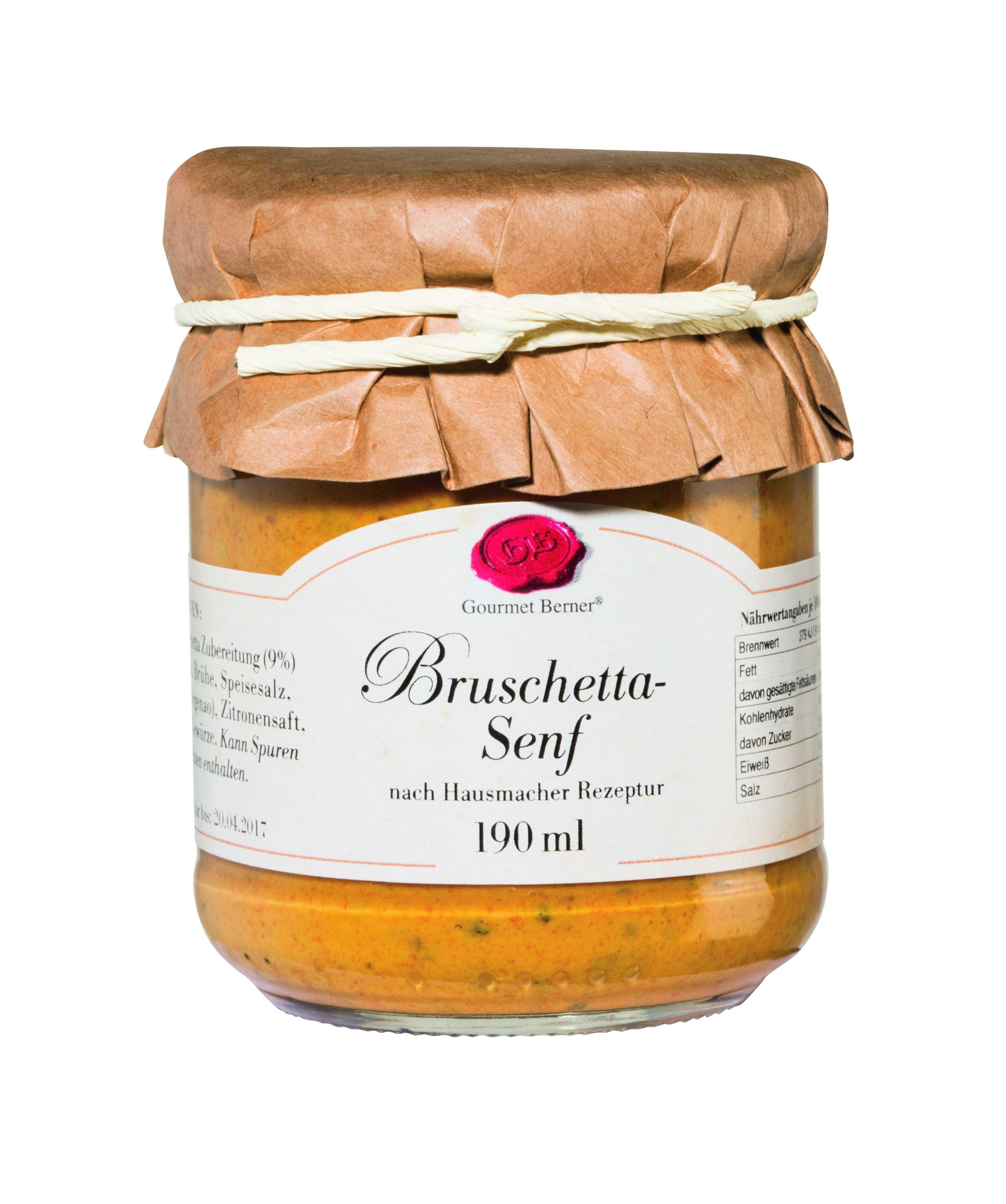 Bruschetta Senf im 190ml Glas