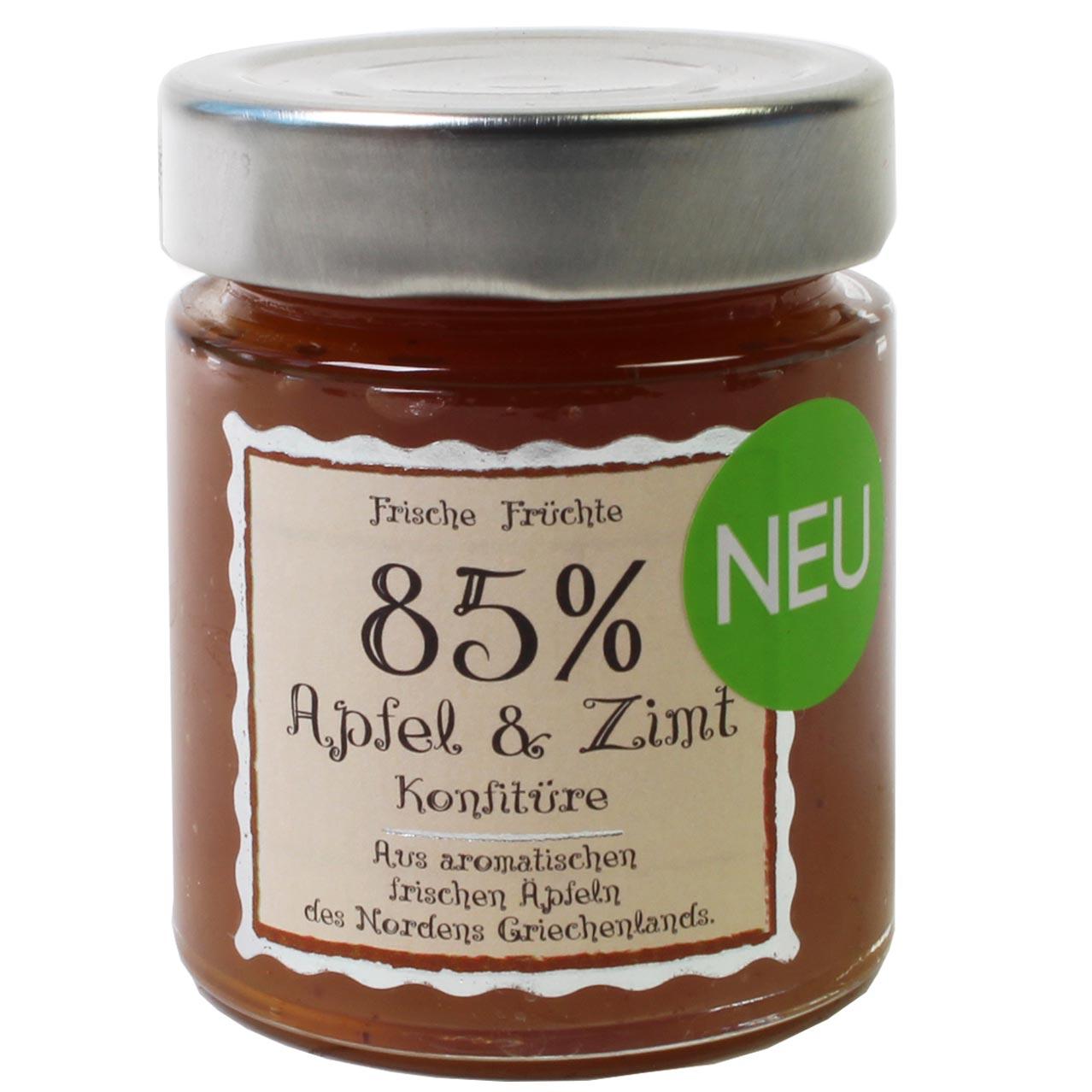 85% Apfel & Zimt Konfitüre Extra Fruchtgehalt 180 g