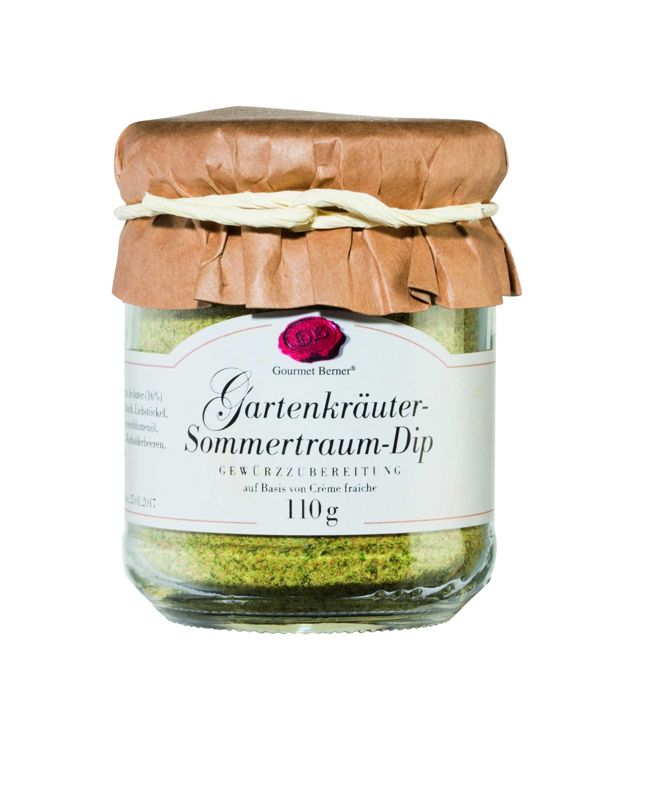 """Gartenkräuter """"Sommertraum"""" Dip im 110g Glas"""