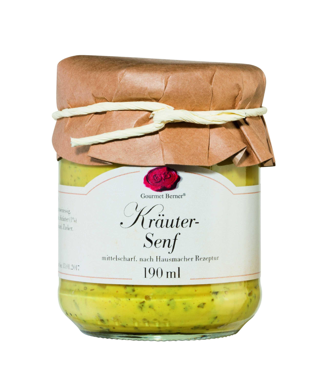 Kräuter Senf im 190ml Glas