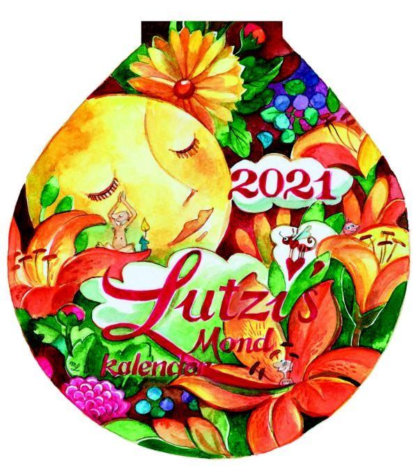 Lutzi's Mondkalender Rund 2021 ohne Aufhängung (Mond)
