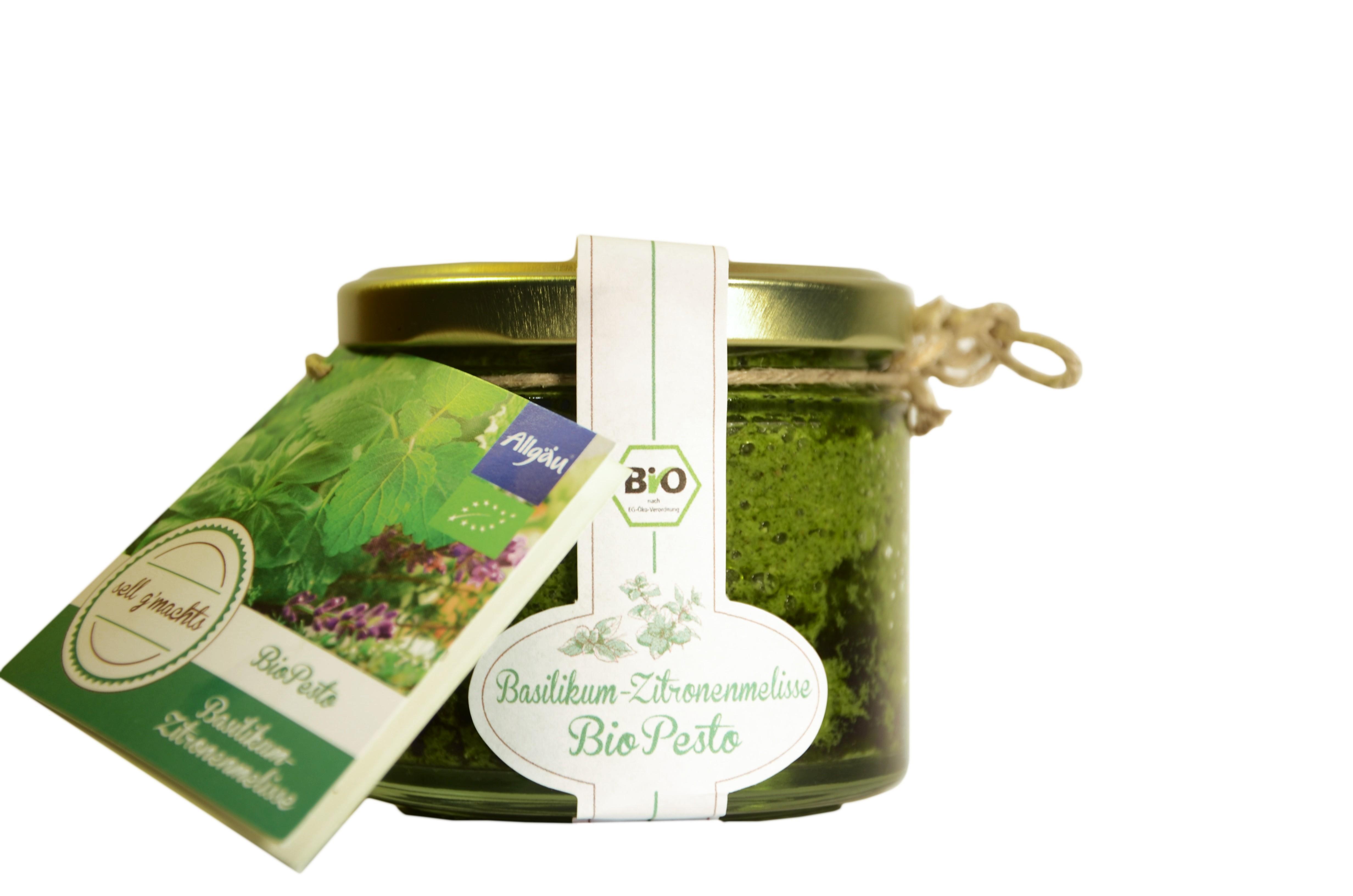 Basilikum-Zitronenmelisse Pesto 110g bio