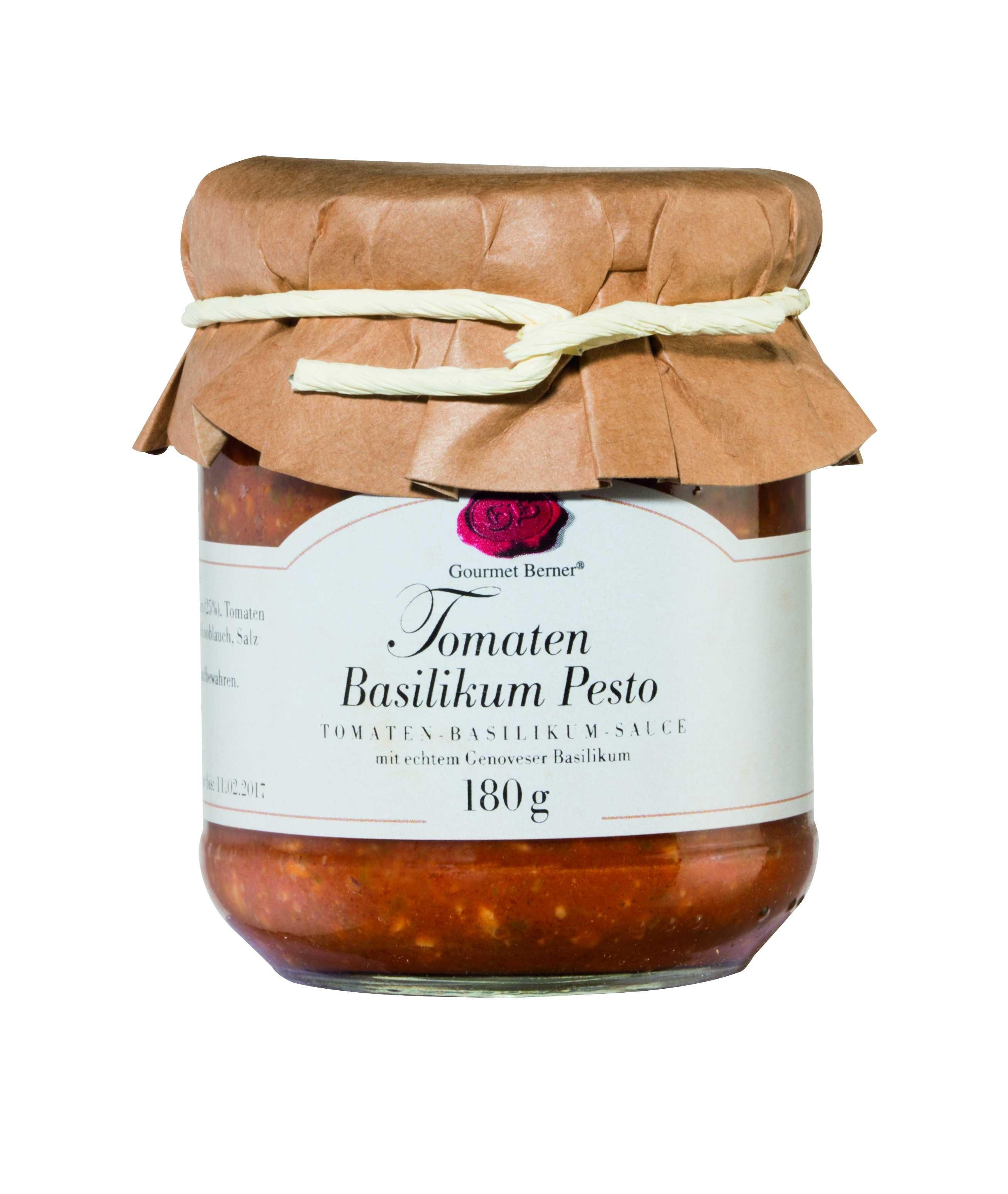 Tomaten Basilikum Pesto - Pesto al Pomodoro im 180g Glas